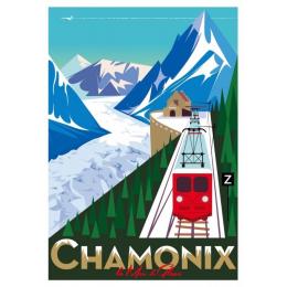 "Affiche tirage d'Art "" Chamonix "" Monsieur Z."