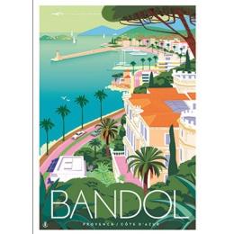"Affiche tirage d'Art ""Bandol vue "" Monsieur Z."