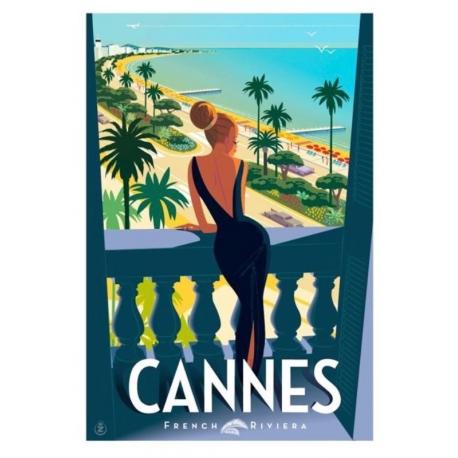 """Affiche tirage d'Art """" Cannes fenêtre """" Monsieur Z."""