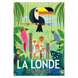 """Affiche tirage d'Art """" La Londe Les Maures - jardin Zoologique """" Monsieur Z."""