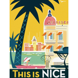 "Affiche tirage d'Art "" This is Nice "" Monsieur Z."