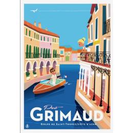 """Affiche tirage d'Art """" Port Grimaud """" Monsieur Z."""