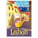"Affiche tirage d'Art "" Lisbon "" Monsieur Z"
