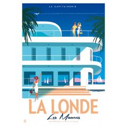 """Affiche tirage d'Art """" La Londe Les Maures - Capitainerie """" Monsieur Z."""