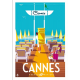 """Affiche tirage d'Art """" Cannes Ponton """" Monsieur Z."""