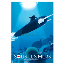 """Affiche tirage d'Art """"Sous Les Mers"""" Monsieur Z."""