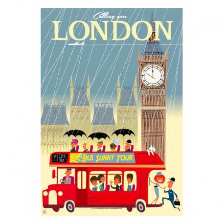 """Affiche tirage d'Art """"London"""" Monsieur Z."""