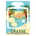 """Affiche tirage d'Art """"Grasse Village Flacon"""" Monsieur Z."""