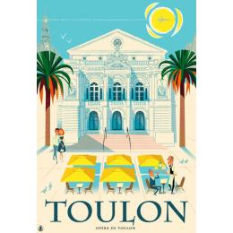 """Affiche tirage d'Art """"Opéra de Toulon"""" Monsieur Z. Edition limitée !"""