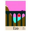 """Affiche tirage d'Art """"Eze"""" Monsieur Z."""