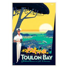 """Affiche tirage d'Art """"Toulon Bay Hauteur"""" Monsieur Z."""