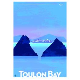 """Affiche tirage d'Art """"Toulon Bay Les Deux Frères"""" Monsieur Z."""