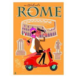 """Affiche tirage d'Art """"Rome"""" Monsieur Z."""