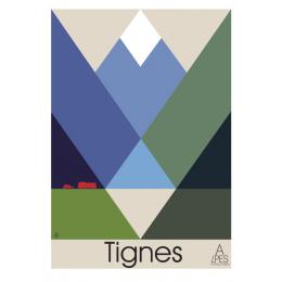 """Affiche tirage d'Art """"Tignes"""" Monsieur Z."""