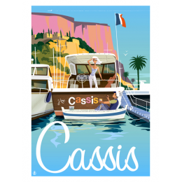 """Affiche tirage d'Art """"Cassis"""" Monsieur Z."""