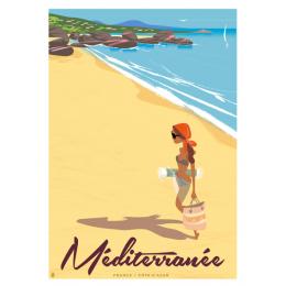 """Affiche tirage d'Art """"Méditerrannée"""" Monsieur Z."""