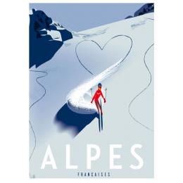 """Affiche tirage d'Art """"Alpes Poudreuse"""" Monsieur Z."""