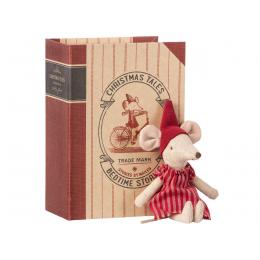 Souris de Noël dans sa boite livre Maileg