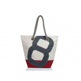 Sac à main Sam gris/rouge - 727 Sailbags