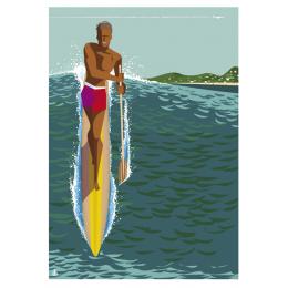 """Affiche tirage d'Art """"Paddle Hyeres"""" Monsieur Z. Edition limitée !"""