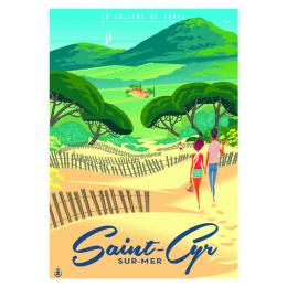 """Affiche tirage d'Art """"Saint-Cyr dune"""" Monsieur Z."""