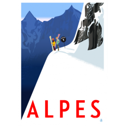 """Affiche tirage d'Art """"Alpes"""" Monsieur Z."""