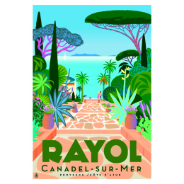 "Affiche tirage d'Art ""Rayol allée"" Monsieur Z."