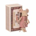 Petit souris grande soeur dans sa boîte Maileg