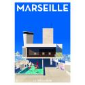 """Affiche tirage d'Art """"Marseille la cité radieuse """" Monsieur Z."""