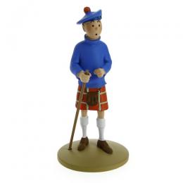 Tintin en kilt - résine - Moulinsart
