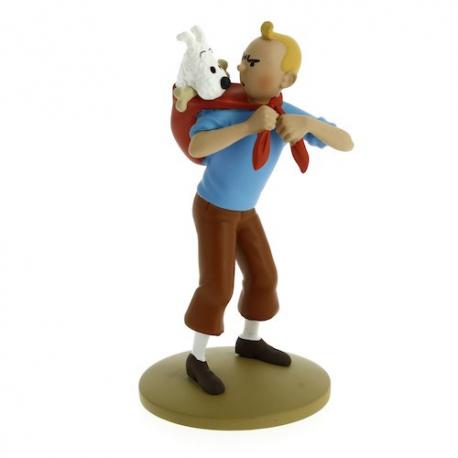 Tintin ramène Milou - résine - Moulinsart