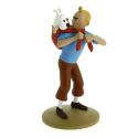 Figurine Tintin ramène Milou - Moulinsart