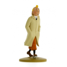 Figurine Tintin en trench - Moulisart